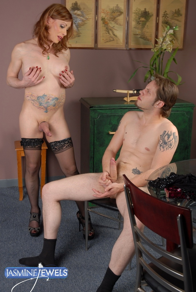 Filthy Transsexual Jasmine Having Crazy Sex With Two Lovers