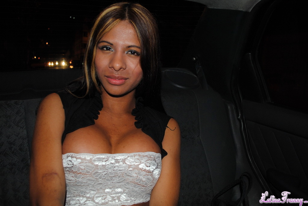 Kissable Nicole Posing With A Massive Titted Ladyboy