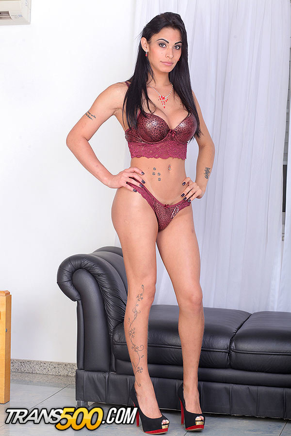 Racy Latina Transsexual Nicolly Lopes Craves Taking Massive