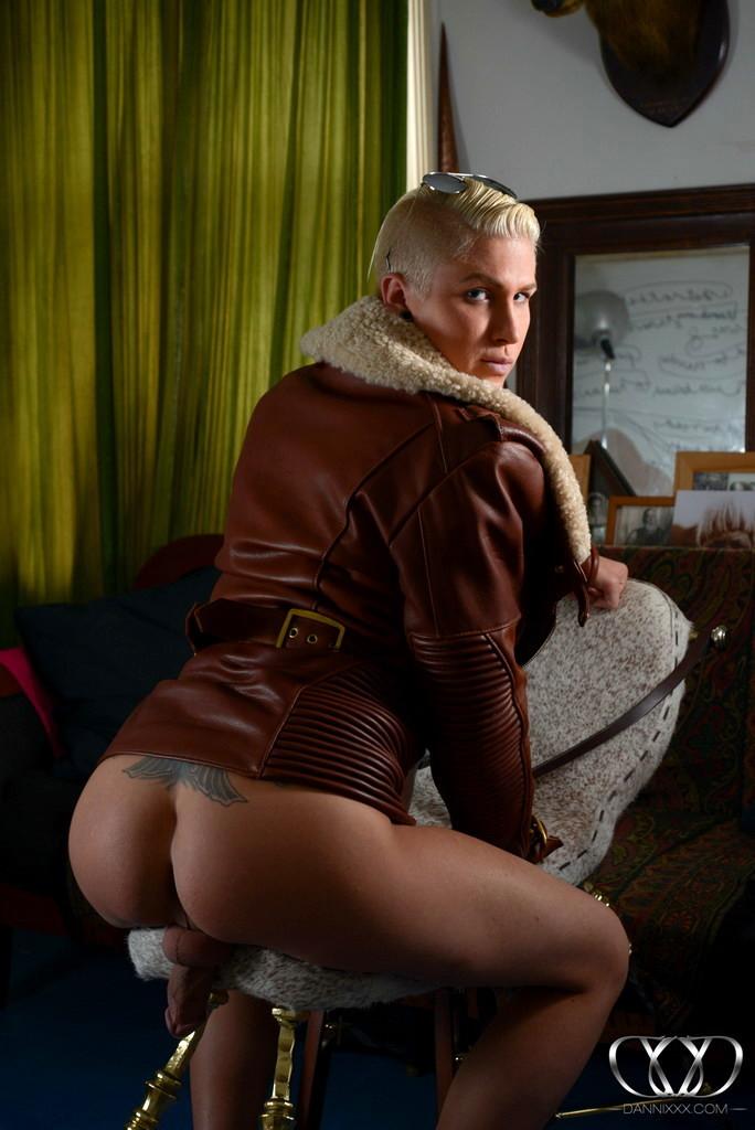 Smoking Sexy Danni Posing In Jacket