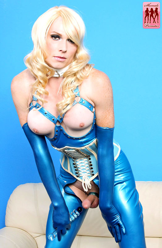 Tara Emory Puts On A Hot Latex Outfit And Toys Her Bum With