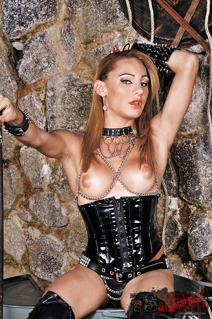 Tgirl Mistress Mylena Shows Us Off In Leather